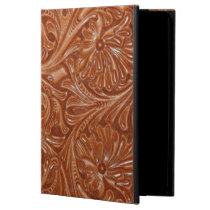 cowboy western country pattern tooled leather cover for iPad air