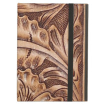 cowboy western country pattern tooled leather iPad air cover