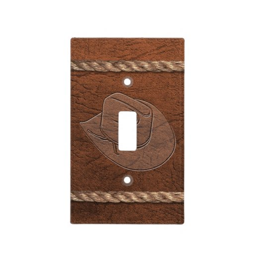 Hat, Leather & Rope Light Switch Cover