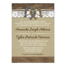 Cowboy Western Horseshoe Wedding Invitations