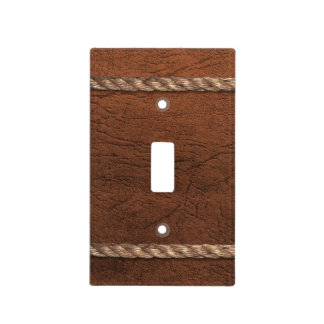 Cowboy / Western - Leather & Rope Light Switch Cover