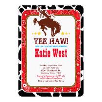 Cowboy Western Old West Baby Shower Invitation