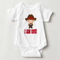 Cowboy Western Old West Birthday Baby Bodysuit