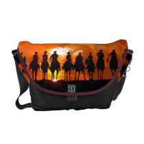 Cowboy Western Rickshaw Horse Saddle Bag
