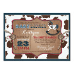 Cowboy Western Rocking Horse Baby Shower Card