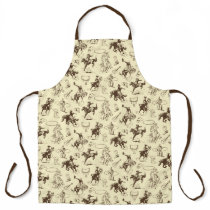 Cowboy Western Rodeo Horse Riding Roping Apron