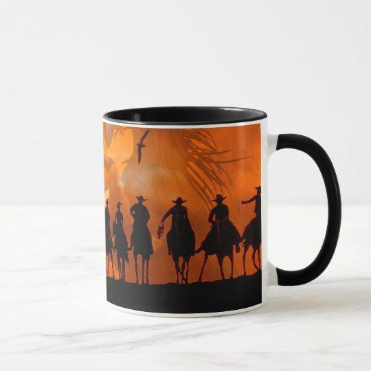 Cowboy Western Roundup Time Horse Ranch Coffee Mug