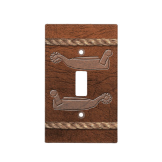 Cowboy / Western - Spurs, Leather & Rope Light Switch Cover
