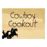 Cowboy Western themed buckskin Party Invitations