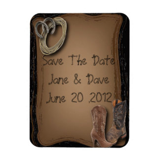 Cowboy Western Wedding Save The date Magnet