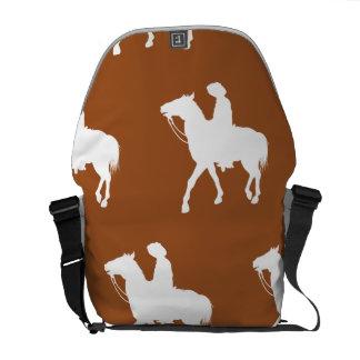 Cowboy White Brown Courier Bag