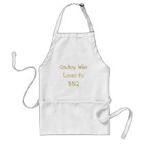 Cowboy WhoLoves to BBQ Adult Apron