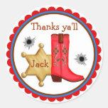 Cowboy  Wild West  Birthday  Stickers
