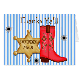 Cowboy  Wild West  Note Cards