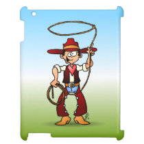 Cowboy with a lasso cover for the iPad