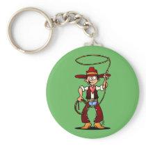 Cowboy with a lasso keychain