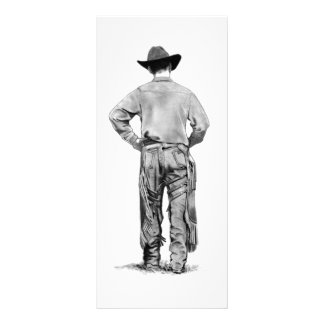 Cowboy With Chaps And Serenity Prayer: Pencil Rack Card