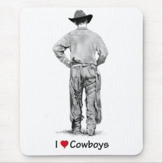 Cowboy With Chaps: I Love Cowboys: Pencil Mouse Pad
