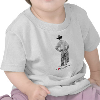 Cowboy With Chaps: I Love Cowboys: Pencil T-shirt
