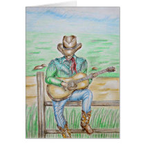 Cowboy with guitar