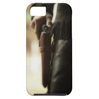 Cowboy with gun in holster iPhone 5 cases