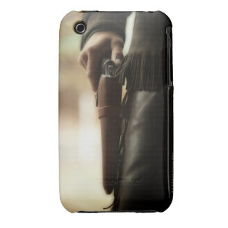 Cowboy with gun in holster iPhone 3 cases