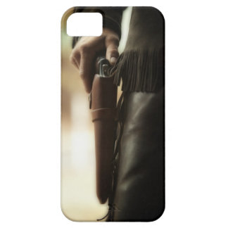 Cowboy with gun in holster iPhone SE/5/5s case