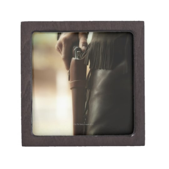 Cowboy with gun in holster jewelry box