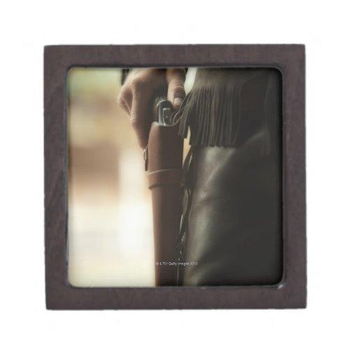 Cowboy with gun in holster premium gift box