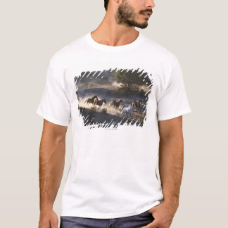 Cowboy with herd of horses T-Shirt