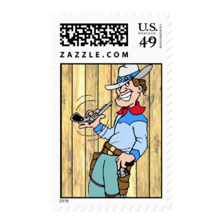 Cowboy with his Gun Postage