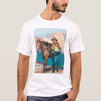 Cowboy With His Horse T-Shirt