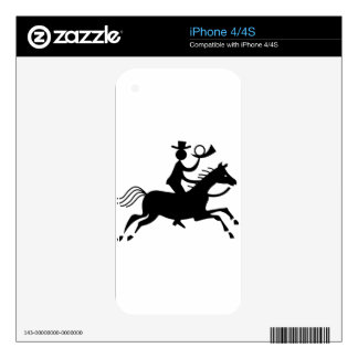 Cowboy with Horn iPhone 4 Decal