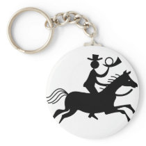 Cowboy with Horn Keychain