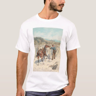 Cowboy with horse in Arroyo... (1324) T-Shirt
