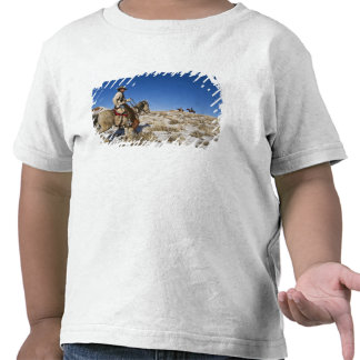 Cowboy with horses on the range on The Hideout T Shirts