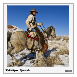 Cowboy with horses on the range on The Hideout Room Graphics