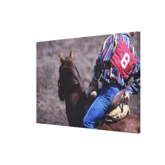 Cowboy with Identification Number Canvas Print