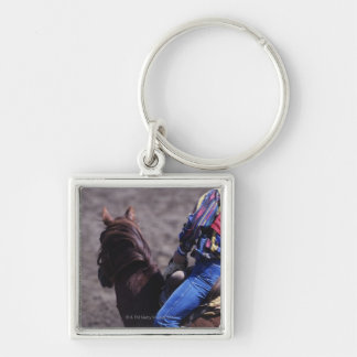 Cowboy with Identification Number Keychain