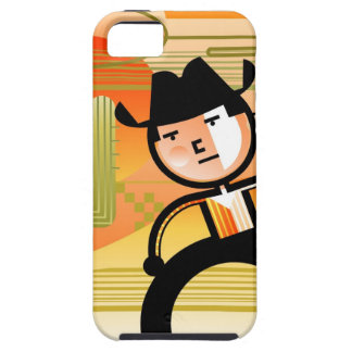 Cowboy with lasso and cactus iPhone 5 cases