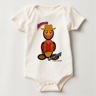 Cowboy (with logos) baby bodysuit