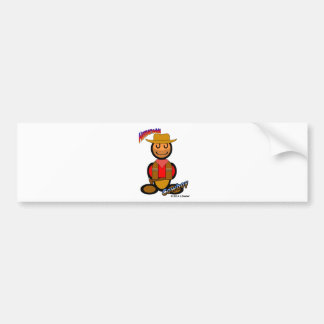 Cowboy (with logos) bumper sticker