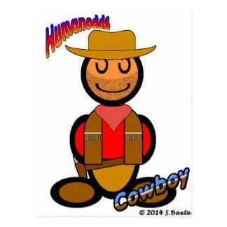 Cowboy (with logos) postcard