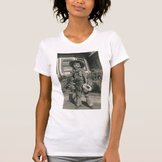 cowboy with open mouth t-shirt