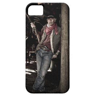 Cowboy with Pistol and Rifle iPhone SE/5/5s Case