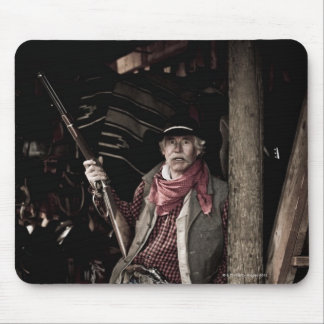 Cowboy with Pistol and Rifle Mouse Pad