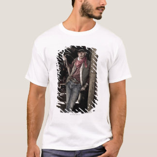 Cowboy with Pistol and Rifle T-Shirt