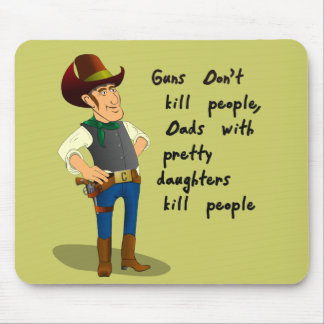 Cowboy with Pretty Daughter Mousepad