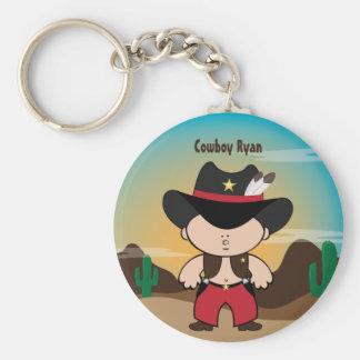 Cowboy with sheriff hat Keychain