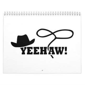 Cowboy yeehaw calendar